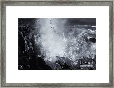 Explosive Sea Framed Print by Mike  Dawson