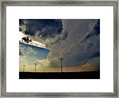Explosive Texas Supercell Framed Print by Ed Sweeney