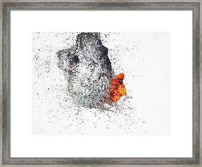 Explosive Water Balloon Framed Print by Jay Harrison