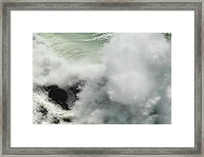 Explosive Wave Framed Print by Donna Blackhall