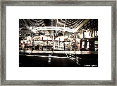 Framed Print featuring the photograph Explozoom On A French Carousel by Stwayne Keubrick