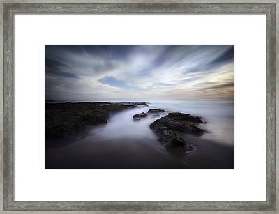 Exposed At Shaw's Cove Framed Print by Sean Foster