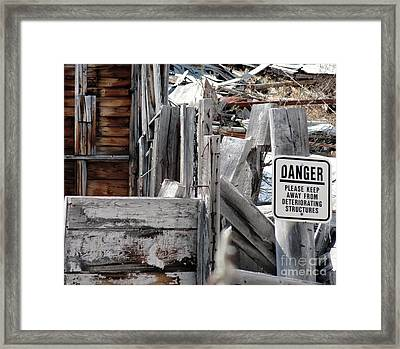 Exposed Framed Print by Dani Abbott