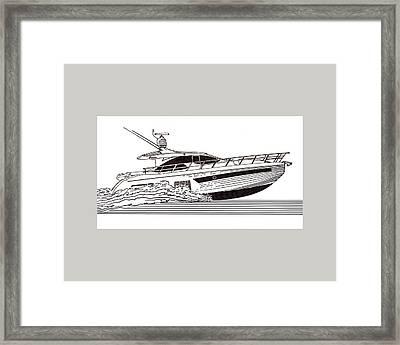 Express Sport Yacht Framed Print by Jack Pumphrey