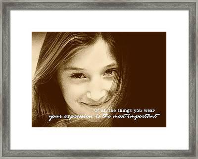 Express Yourself Framed Print