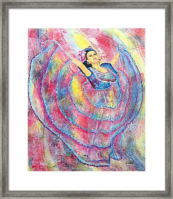 Expressing Her Passion Framed Print