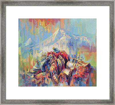 Expression Of Armenia Framed Print by Meruzhan Khachatryan