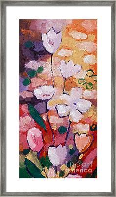 Expressionist Flowers Framed Print by Lutz Baar