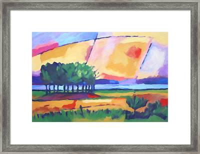 Expressive Evening Framed Print