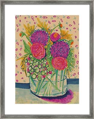 Expressive Flowers Framed Print by Rosalina Bojadschijew