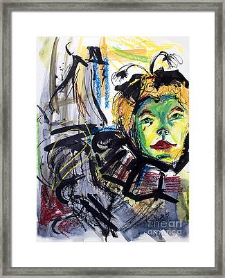 Expressive Homage To Henri De Toulouse-lautrec  Framed Print by Ginette Callaway
