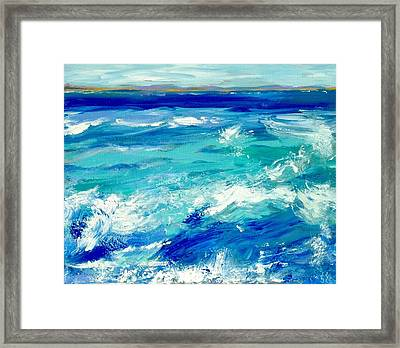 Expressive Sea  Framed Print by JC Strong