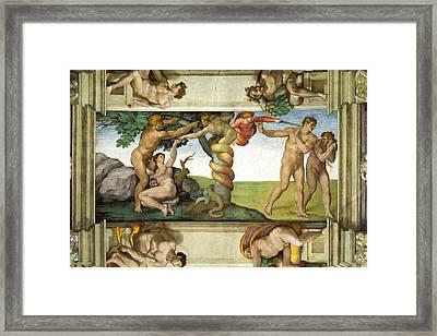 Expulsion From Paradise Framed Print