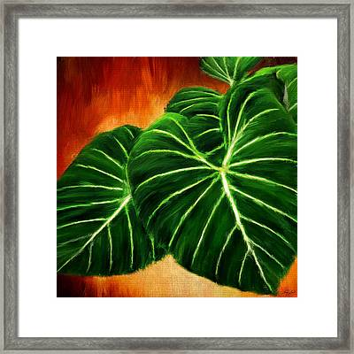 Exquisite Collection- Philodendron Gloriosum Framed Print by Lourry Legarde