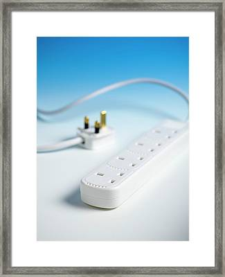 Extension Cable And Multiple Socket Framed Print by Science Photo Library