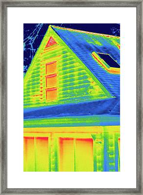Exterior Of A House During Winter Framed Print