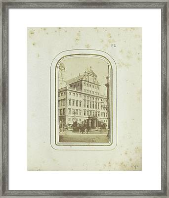 Exterior Of City Hall Of Augsburg, Germany Framed Print