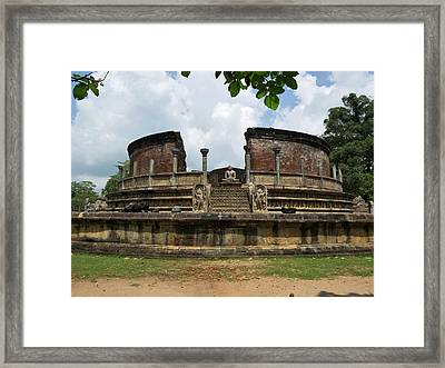 Exterior Of Polonnaruwa Vatadage Framed Print by Panoramic Images
