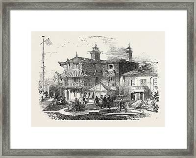 Exterior Of The Cottage Of The Mayor Of Southampton Framed Print