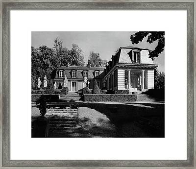 Exterior Of Villa Le Noviciat Framed Print by Andr? Kert?sz