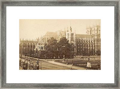 Exterior Of Westminster Abbey And St. Margarets Church Framed Print by Artokoloro
