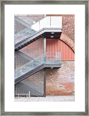 Exterior Stairs Framed Print by Tom Gowanlock