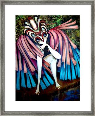 Framed Print featuring the painting Extinct Species IIi by Irena Mohr