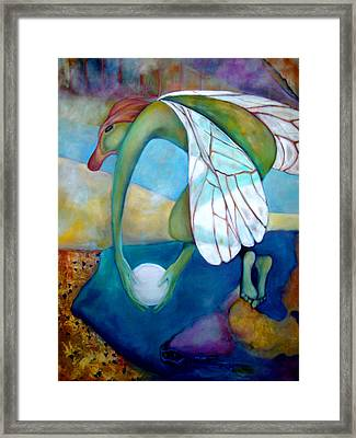 Framed Print featuring the painting Extinct Species V by Irena Mohr