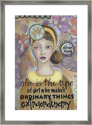 Extraordinary Inspirational Art Framed Print