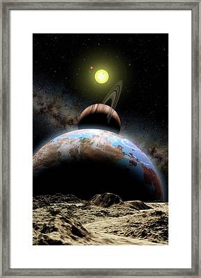 Extrasolar Planetary System Framed Print by Lynette Cook