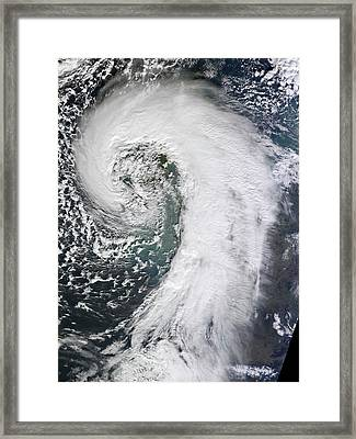 Extratropical Cyclone Framed Print by Nasa Earth Observatory