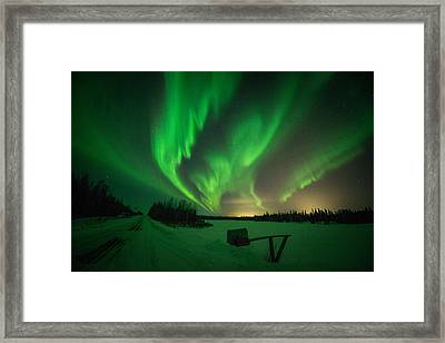 Extreme Aurora Activity Salcha Framed Print