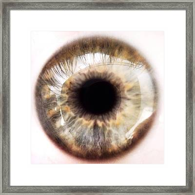 Extreme Close-up Of Human Eye Framed Print by David Crunelle / Eyeem