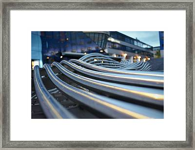 Extreme Close Up Of Wires In A Row Framed Print by Rogilio Reid / Eyeem