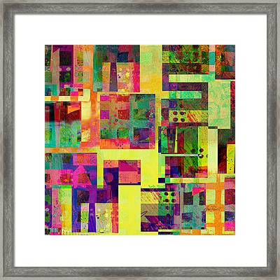 Extreme Color  Abstract Art  Framed Print by Ann Powell