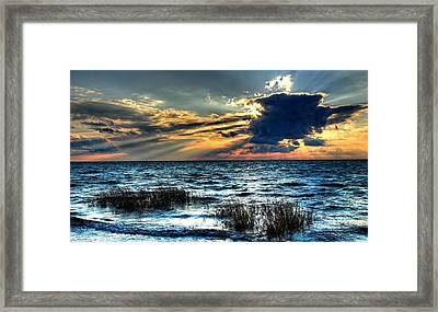Extreme Sunset - Outer Banks Framed Print by Dan Carmichael