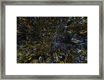 Extrude Abstract Framed Print