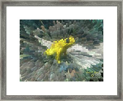 Framed Print featuring the photograph Extrude Yellow Frog by Donna Brown