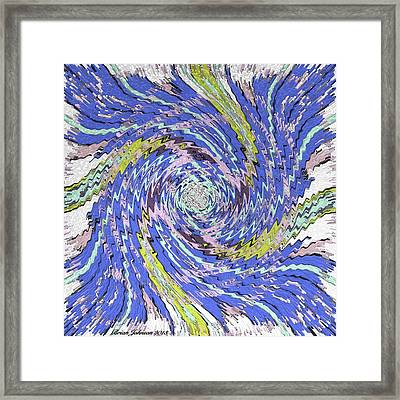 Extruded Twirly Framed Print by Brian Johnson