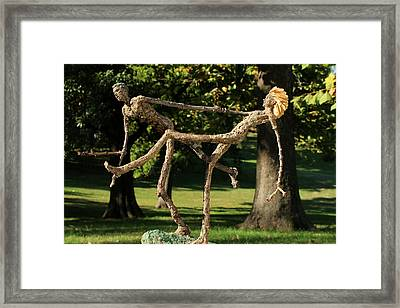 Exuberance Photographed Outside Framed Print
