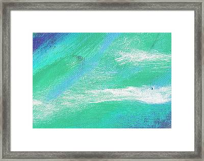 Exuberant Aqua Blue Valley Framed Print by L J Smith
