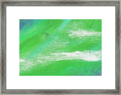 Exuberant Aqua Green Valley Framed Print by L J Smith
