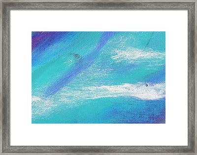 Exuberant Blue Framed Print by L J Smith