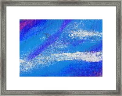 Exuberant Midnight Blue Framed Print by L J Smith
