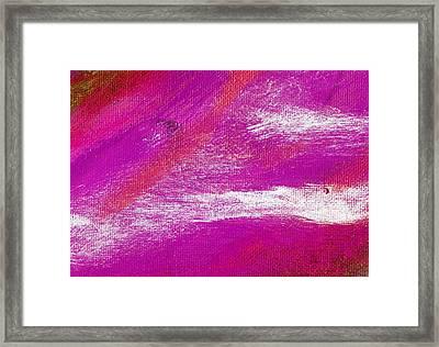 Exuberant Purple Valley Framed Print by L J Smith