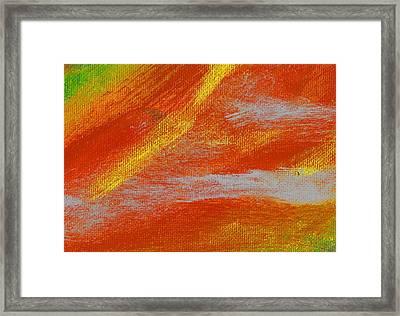 Exuberant Yellow Orange Framed Print by L J Smith