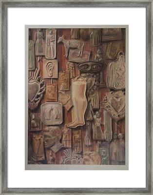 Exvotos  Framed Print by Paez  Antonio
