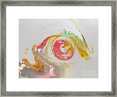 Eye 2 Framed Print by Soumya Bouchachi