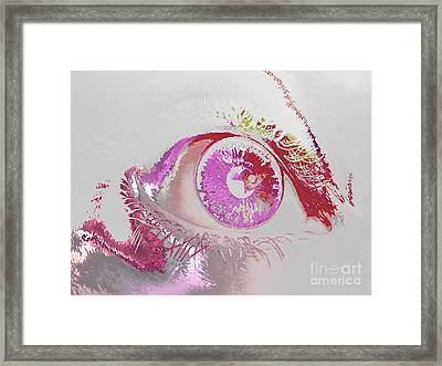 Eye 3 Framed Print by Soumya Bouchachi