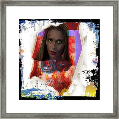 Framed Print featuring the digital art Eye Am  by Lisa Piper